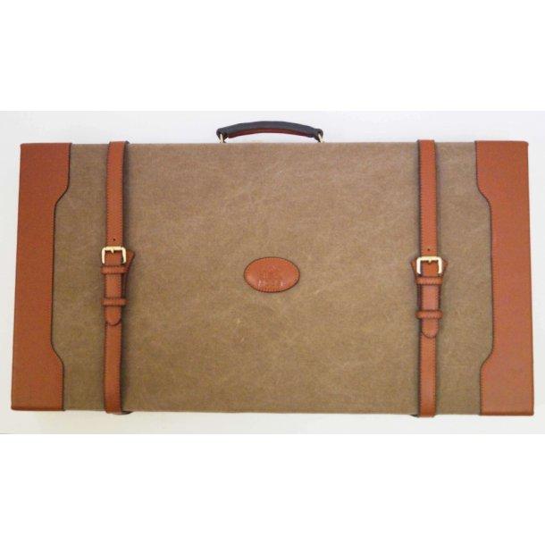 Black Moose riffelkuffert i brun kanvas