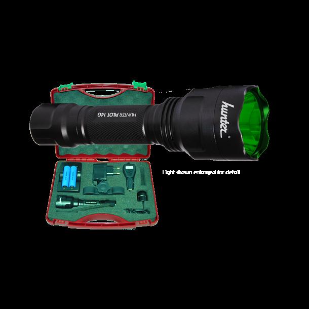 Hunter Pilot 14G Eftersøgningslygtesæt Med Grønt Lys