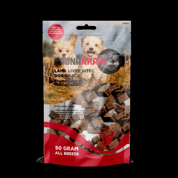 FAUNAKRAM hundesnack 50g med lammelever